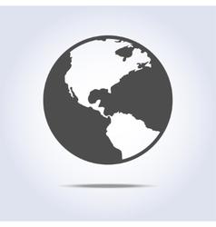 World globe icon gray color vector