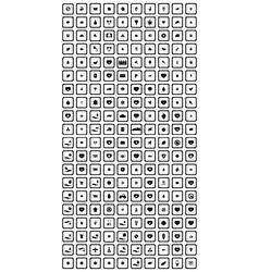 200 universal icons set vector image
