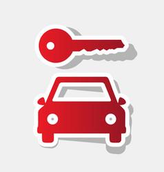 car key simplistic sign  new year reddish vector image