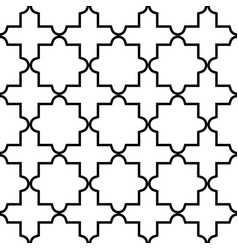 Geometric seamless pattern moroccan tiles desig vector