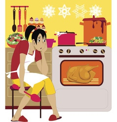 Cooking for holidays vector