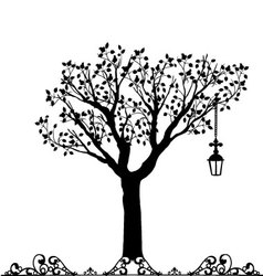 Antique ornament of a tree vector