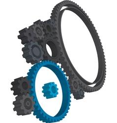 3d cogwheels vector image vector image