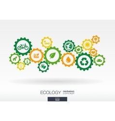 Ecology mechanism concept abstract background vector