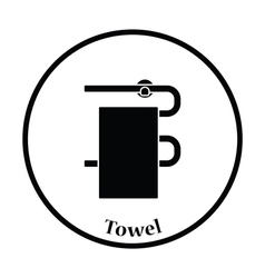 Heated towel rail icon vector