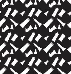 Seamless monochrome pattern with chess figures vector