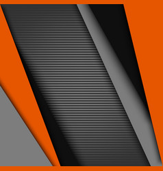 abstract background with black gray orange design vector image vector image