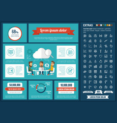 business flat design infographic template vector image