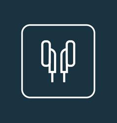 earphones outline symbol premium quality isolated vector image
