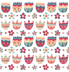 Floral seamless pattern on white background vector image vector image