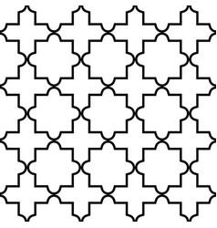 geometric seamless pattern moroccan tiles desig vector image vector image