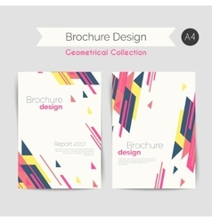 Geometrical brochure a4 vector