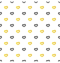 Golden and black hearts seamless pattern vector image vector image