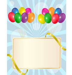 Greeting sign with balloons vector