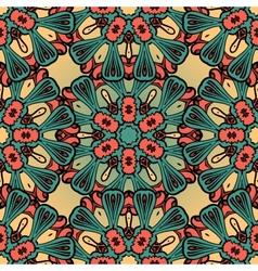 Hand drawn vintage seamless mandala background vector image