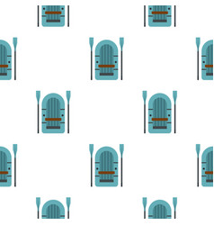Inflatable boat pattern flat vector