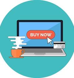 Online shopping e-commerce concept Flat design vector image vector image