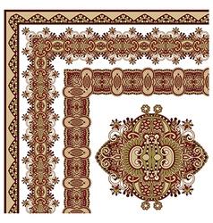 Ornamental floral vintage frame design vector
