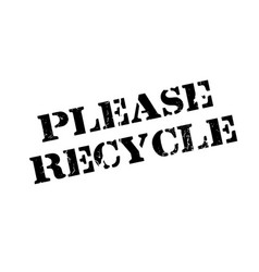 please recycle rubber stamp vector image vector image