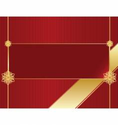red stripe gold bow background vector image vector image