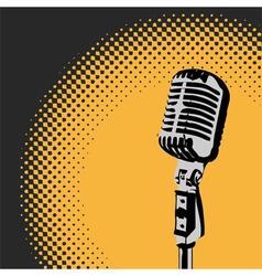 Retro microphone spotlight 2 vector