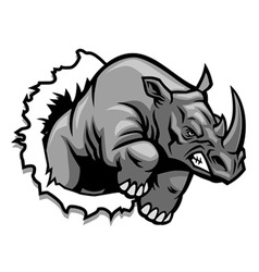 rhino ripping vector image vector image