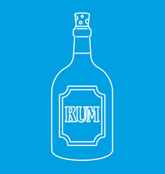 rum icon outline style vector image