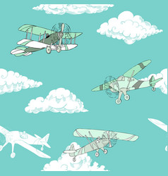 Seaml colors airplanes-08 vector