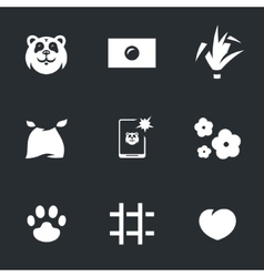 Set of Panda vector image vector image