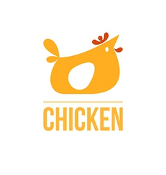 Signs and symbols chicken vector