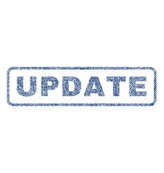Update textile stamp vector