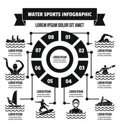 Water sport infographic concept simple style vector