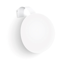 White round wobbler on white background vector