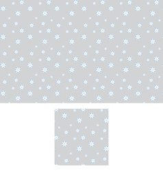Seamless pattern with falling snow flakes vector
