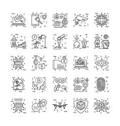 Line icons with detail 10 vector