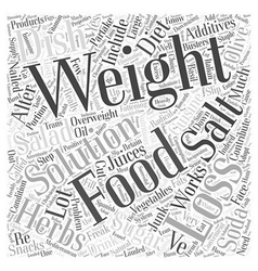 Weight loss solutions word cloud concept vector