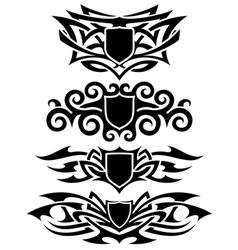 Tattoo shields set vector