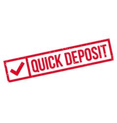 Quick deposit rubber stamp vector
