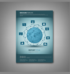 Brochures book or flyer with abstract network vector
