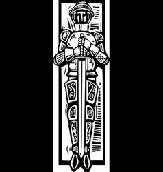 Knight Burial Image vector image
