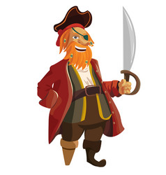 Cartoon pirate isolated on vector