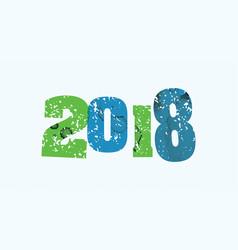 2018 concept stamped word art vector