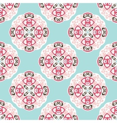 Seamless pattern circles abstract ornament vector