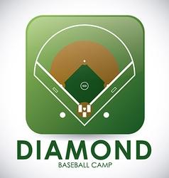 Baseball design vector