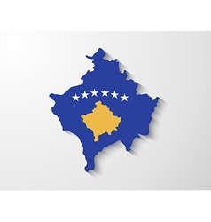 Kosovo country map with shadow effect presentation vector