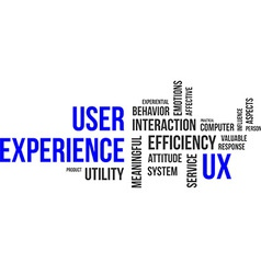 Word cloud user experience vector