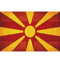 Mosaic flag of macedonia vector