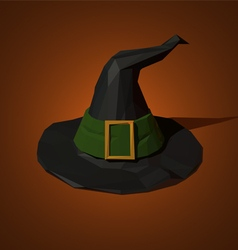 Low poly witch hat vector