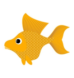 Goldfish on white background fabulous fish vector