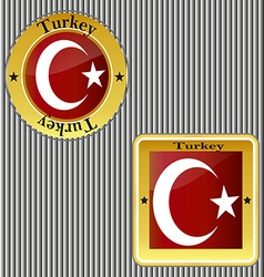 Flag turkey symbol turkish national country icon vector
